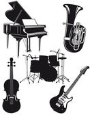 Orchestral Instruments — Stock Vector