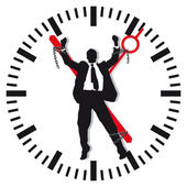 Man in time stress — Stock Vector