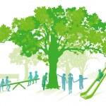 Green playground — Stock Vector #23383694