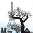 Sights in Paris - Stock Vector