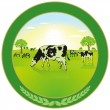 Dairy farming Label - Stock vektor