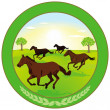 Horse breeding Label — Stock Vector