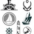Stock Vector: Maritime mark