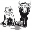 Bull and Bear — Stock Vector #24112269
