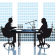 Discussion in the office — Stock Vector