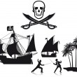 Pirates and Corsairs — Stock Vector