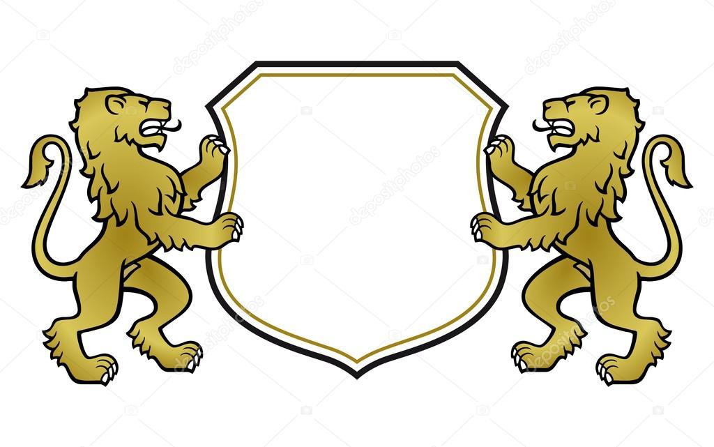 Герб с рисунком льва