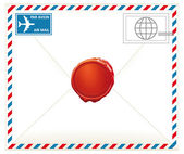 Airmail letter — Stock Vector