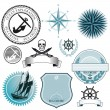 Ship and sea icons — Stock Vector