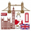 England set — Stock Vector