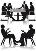 Discussion and consultation — Vetor de Stock