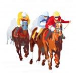 at yarışı bitirmek — Stok Vektör