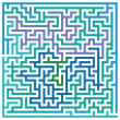 Stock Vector: Labyrinth path
