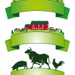 Vector de stock : Farm Label