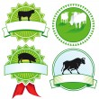 Cattle breeding signs — Image vectorielle