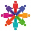 People in circle — Imagen vectorial