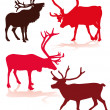Reindeer — Vector de stock #30494755