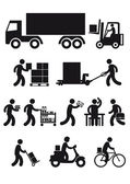 Delivery icon set — Stock Vector