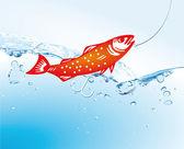 Pesca nel lago — Vettoriale Stock
