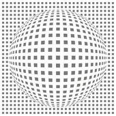 Gebogene gitter — Stockvektor