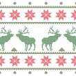 Textile with deer — Vettoriali Stock