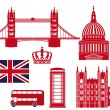 London landmarks — Stock Vector