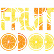 Citrus fruits , lemons and oranges — Stock Vector