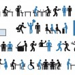Stok Vektör: Office pictogram