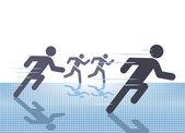 Free run sport — Vettoriale Stock