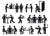Restaurant pictograms — Vettoriale Stock