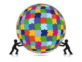 Puzzle challenge — Stock Vector