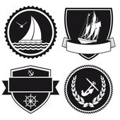Nautical labels — Stock Vector