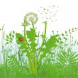 Grasses and meadow — Stock Vector #45204991