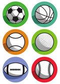 Sports balls — Stockvektor