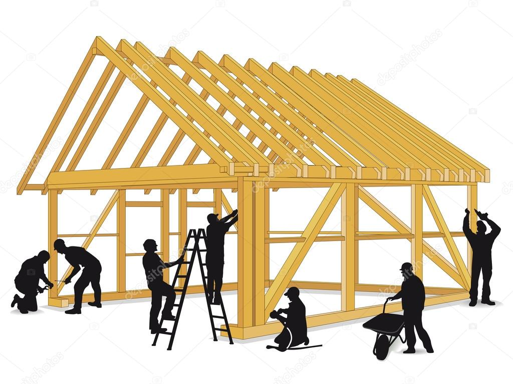 Build wooden house stock vector scusi0 9 47064973 for Buildahouse com