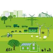 Sustainable Energy — Stock Vector