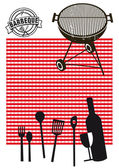 Barbeque picnic — Stock Vector