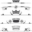 Royal crowns and characters — Stock Vector #49308415