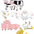Farm animals cartoon — Stock Vector #49430001