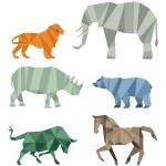 Cubist wildlife — Stock Vector #49515521