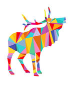 Colorful deer — Stock Vector