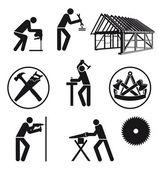 Carpenterjoiner caratteri — Vettoriale Stock