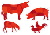 Beef meat — Stock Vector