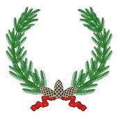 Pine wreath — Stock Vector