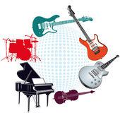 Instrumenty muzyczne — Wektor stockowy