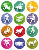 Signes du zodiaque astrologique — Vecteur