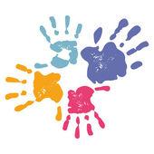Family Handprint — Stock Vector