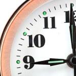 Bronze vintage alarm clock — Stock Photo #11994403
