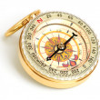 Old styled, gold compass — Stock Photo