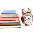 Clock and books — Stock Photo #12698322